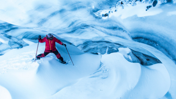 Inspiring athlete Eric Larsen crosses a treacherous, yet stunning winter landscape - Photo by Eric Larsen